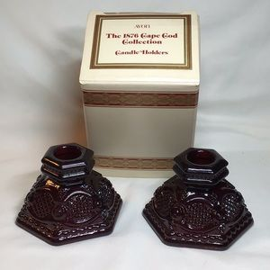 NIB Avon Cape Cod Collection Candle Holders
